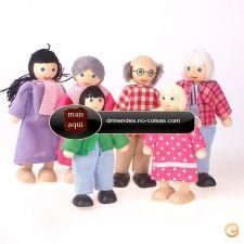 IC468 - Toy 6pcs Adorável Membros família felizes Boneca Art
