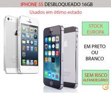 STOCK EUROPA - Iphone 5s Desbloqueado 16gb preto ou branco