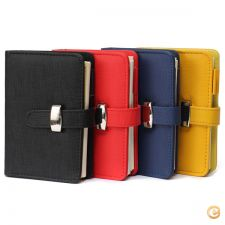 24E1792 - Pc  papelaria   A7 Pocket PU Leather Cover Noteboo
