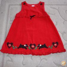 Vestido Vermelho em Bombazine 2 Anos
