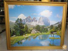Quadro Lago Delle Dolomiti, Foto Ghedina, c/ Direitos Autor