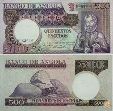 Ek # (24) Nota 500 escudos Angola 1973 Luís Camões : Nova