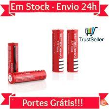 L129 2x Pilha Bateria Recarregável 18650 LI-ION 4200mAh 3.7V