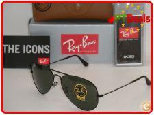 STOCK - Oculos Ray Ban Aviator RB3025 - Pretos lentes Verdes