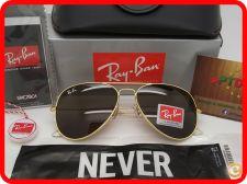 ## Oculos Ray Ban Aviator RB 3025 - Dourados Castanhos ##