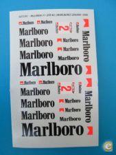 Decalque da Marlboro para Miniaturas 1/43