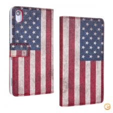24O2809 -  capas Sony Xperia Z2 American Flag Filp PU  Prote