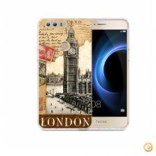 Capa London old postcard stamps para Huawei Honor 8