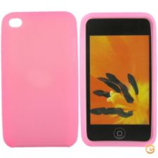 Capa em silicone - iPod Touch 4 (Rosa)