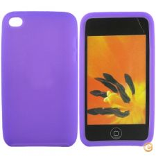 Capa em silicone - iPod Touch 4 (Roxo)