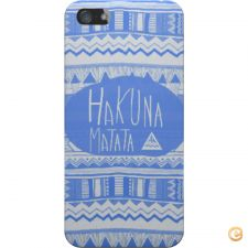 Capa mate Hakuna matata electric blue para iPhone 5S/SE