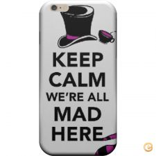 Capa Keep calm we are all mad here para iPhone 6/6S
