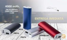 Bateria Auxiliar, Power Bank 4000mAh - ENTREGA IMEDIATA