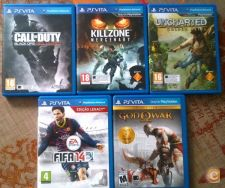 God of War, Kill Zone, Uncharted, Call of Duty e Fifa 14
