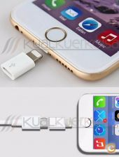 Adaptador Micro USB para 8 pinos Iphone Ipad  IOS 8/9 WHITE