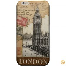 Capa London old postcard stamps para iPhone 7