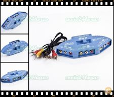 Switch Splitter Seletor Video Audio 3 RCA AV PS2 Xbox DVD