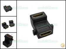 Ficha adaptador conector HDMI 90º graus TV PC PS3 Satélite