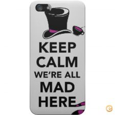 Capa mate Keep calm we are all mad here para iPhone 5C