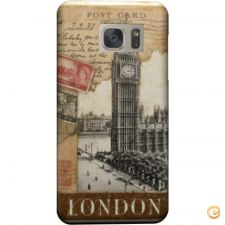 Capa London old postcard stamps para Galaxy Note 5