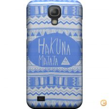 Capa mate Hakuna matata electric blue para Galaxy S4 mini