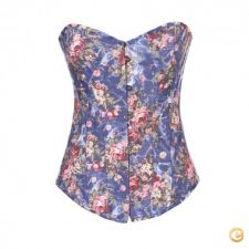 14a24840 - Roupa mulher lingerie Mulheres Sexy Blue Lace Flo