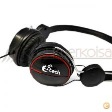 Headset Auscultadores Tech Music + micro incorporado