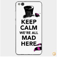 Capa Keep calm we are all mad here para Huawei P10 Lite