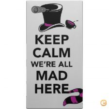 Capa Keep calm we are all mad here para Sony Xperia Z5 Compa