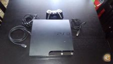 Playstation 3 slim PS3 600GB + 5 jogos GTA4,5 Battlefield...