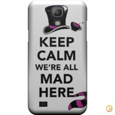 Capa mate Keep calm we are all mad here para Galaxy S4 mini