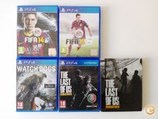 Fifa 14 e 15 / Watch Dogs / The Last of us (PS4)