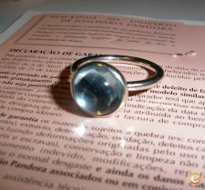 Anel autentico Pandora Droplets Poetic azul
