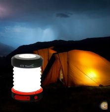 Lanterna solar LED, USB, ideal para campismo