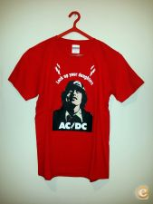 T-Shirt AC/DC Angus Young Lock Up Your Daughters