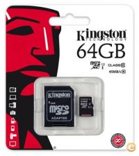 Kingston Micro SD Classe 10 64GB