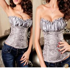 14a24801 - Roupa mulher lingerie Cinza Sexy Lady Lacing Cors