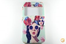 Capa iPhone 7 Plus Flip Cover Flower Girl *Entrega em 24h!