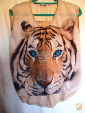 Tshirt Tigre Bege TankTop Nova Coleccçao Em Stock