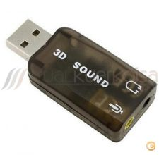Adaptador USB Audio Controller 3D 5.1 PS3 / PC