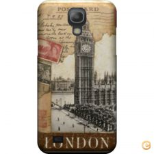 Capa mate London old postcard stamps para Galaxy S4 mini