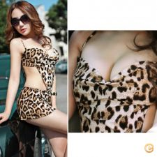 14a24705 - Roupa mulher lingerie Mulheres Sexy Leopard Night