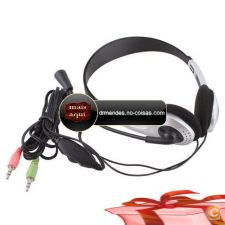 IC57 - Fone ouvido w microfone MIC VOIP Headset Skype PC com