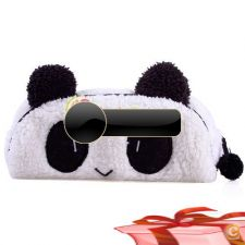 33A0375 - Bonito macio Plush Panda Pencil Pen Card Case Cosm