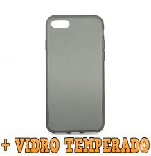 "Capa Transparente ""Fumada"" + Pelicula VIDRO iPhone 8 Plus"