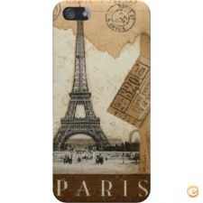 Capa mate Paris old postcard stamps para iPhone 5C