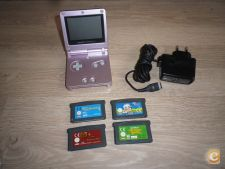 NINTENDO GAMEBOY ADVANCE SP + CARREGADOR + JOGOS