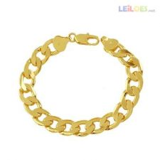 Pulseira 20,5cm x 9mm com ouro nova gold filled linda 522
