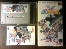 SUPER GACHAPON WORLD GUNDAM X SNES Jp COMPLETO