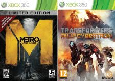 XBOX360 - Metro Last Light, Transformers Fall of Cybertron